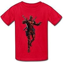 KST Impression Deadpool enfants garçons et filles T-shirt à manches courtes