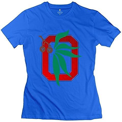 Women's T Shirt Ohio State University Columbus Mascot Brutus White XXXX-L