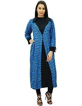 Bimba 2 mujeres kurta pieza recta blusa Kurti con pashmina encogimiento túnica diseñador de la chaqueta