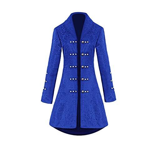 Lange Appliance (Steampunk Damen Mantel, Dasongff Taillierte Smokingjacke in Taillenhöhe, Eleganter Retro Unregelmäßige Tailcoat Blazer Viktorianischen Langer Kostüm Cosplay Kostüm Uniform Outwear)