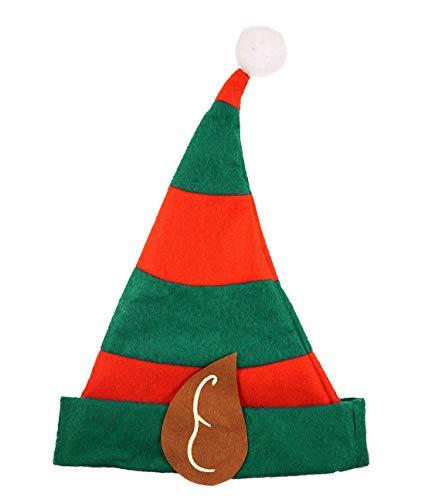 Islander Fashions Kinder ELF Hut mit Ohren Erwachsene Weihnachtsfeier Kost�m Zubeh�r Childs Hut One Size (Kinder Für Elf Hut)