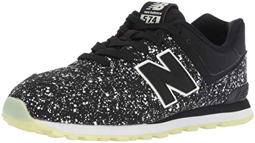 Kb-support (New Balance Unisex-Kinder 574v2 Sneaker, Schwarz (Black/Glo Kb), 36 EU)
