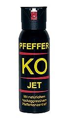 Ballistol Verteidigungssprays Pfeffer KO Jet mit Behördenkappe, 100 ml, 24491
