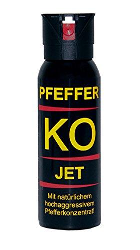 BALLISTOL - Profi Pfefferspray KO-JET - Inhalt: 100 ml - Sprühweite: bis zu 5 Metern - Ideal für geschlossene Räume 10er Set