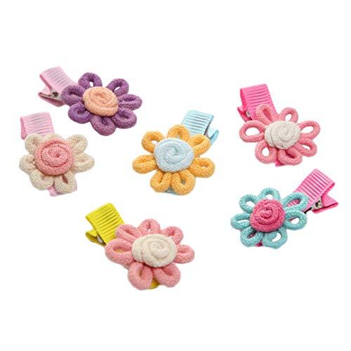 Kanggest 6 Piezas Pinzas De Pelo Infantil Clips Pelo Flor Multicolor Niñas Clip De Pelo Bebe Niña Lazos de Pelo Adornos de Pelo Accesorios