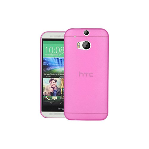 Swan Slim Fit Case Premium Super Lightweight / Perfect Fit / Absolutely NO Bulkiness Hard Case for HTC One (M8) dual sim Pink