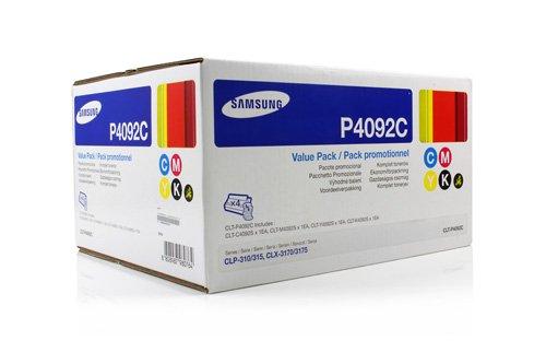 Preisvergleich Produktbild Original Toner Samsung CLT-P4092C - 4x Premium Drucker-Kartusche - Schwarz, Cyan, Magenta, Gelb - 1 x 1.500 & 3 x 1.000 Seiten