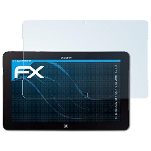 atFolix Schutzfolie kompatibel mit Samsung Ativ Tab 7 (Smart PC Pro 700T) 11.6 Inch Folie, ultraklare FX Displayschutzfolie (2X)