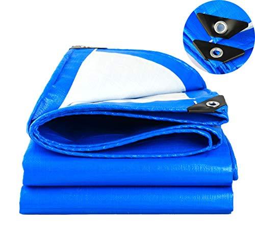 ARNCEE schweren tarp plane dick 3m x 4m 9ft x13ft (3 x 4 m), pe plane wasserdicht blauen segeltuch blatt premium qualität auf plane für outdoor camping -
