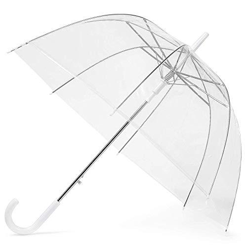 Jwboss ombrello trasparente/grande ombrello trasparente lungo circa 85 cm, adatto per donna, matrimonio, fotografia/ombrello pieghevole automatico traslucido