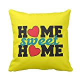 TYYC New Year Gifts for Home, Printed Home Sweet Home Cushion Covers 24x24 inches Single, Home decorative items for bedroom, living room