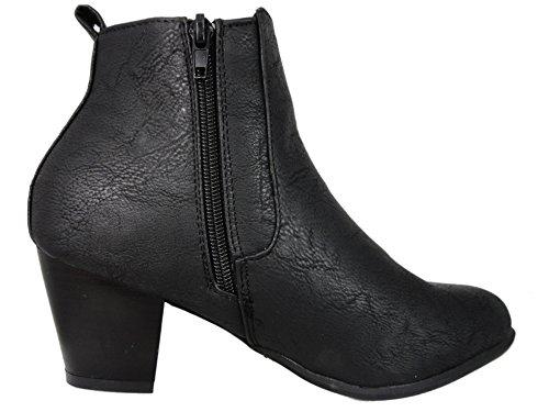 Comfort Plus ,  Damen Chelsea Boots Schwarz