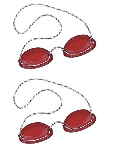 Solarium Schutzbrille rot UV Brille Solariumbrille mit Gummizug 2 Paar - By Beauty & Legwear Store