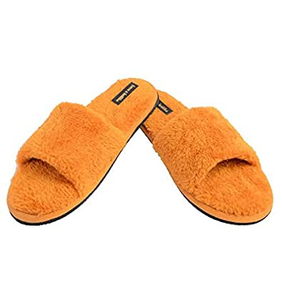 futro z królika Golden Yellow Polyester Carpet Slippers -35 UK/India
