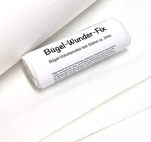 Zick-Zack Die Stoffidee Bügel-Wunder-Fix1 / Bügelvlies (Packungsinhalt: 100 x 80 cm), Bügel-Volumenvlies fest Stärke ca. 2mm, einseitig bebügelbar, AUFBÜGELBAR!