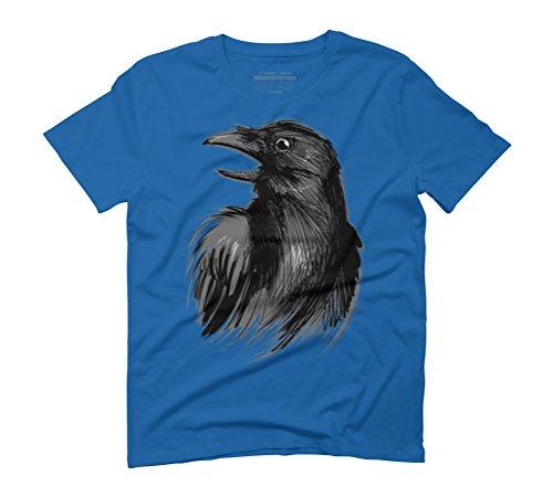 Raven Men's Graphic T-Shirt - Design By Humans Royal Blue