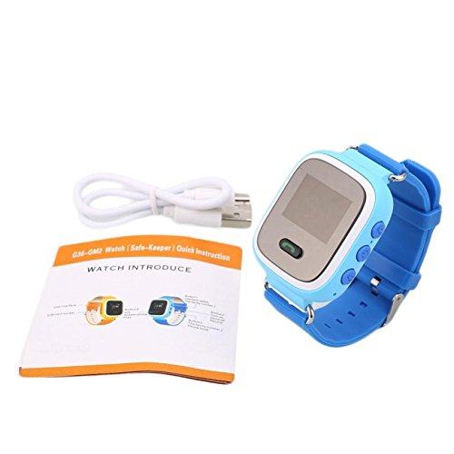 KIDS GPS SECURITY SMART TRACKER ANTI LOST SOS GIFT WATCH Blue Color Watch Free Gift