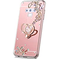 PHEZEN Case for Samsung Galaxy Note 9 Mirror Case Rose Gold