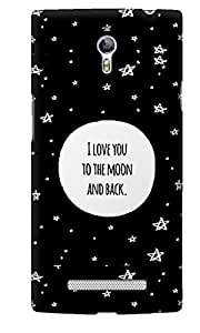 The Fappy Store To-the-moon plastic Back Cover For Oppo Find 7
