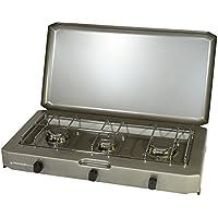 Proweltek-Providus PROVIDUS-PROWELTEK PR1086 FT 300 Réchaud à Gaz 3 Feux avec Couvercle 3100 W