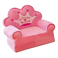 B Blesiya Crown Mini Chair Seat for Children Cartoon Folding Baby Sofa Multifunctional Sofa Cover Birthday Gifts for Boys and Girls