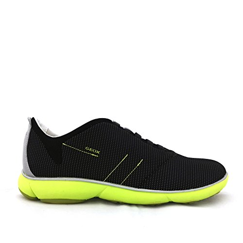 Geox , Herren Sneaker schwarz schwarz Schwarz