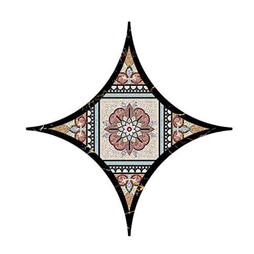 Gold-porzellan-fliese (SCEMARK Neu Haus Dekoration Art Wandaufkleber Geometrische selbstklebende Fliesen Aufkleber Decal Home Decoration Wall Sticker Extra großer diagonaler Aufkleber Wandaufkleber 20x20CM)