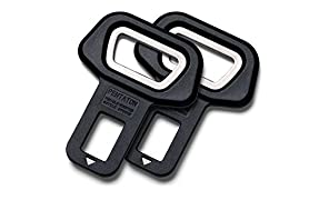 Disattiva allarme della cintura di sicurezza con apribottiglie integrato Pentaton, Fibbia per la cintura di sicurezza, Disattiva allarme, Nero (2 pezzi)