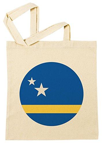 Erido Curacao National Flagge Einkaufstasche Wiederverwendbar Strand Baumwoll Shopping Bag Beach Reusable