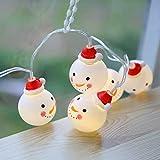 Libeauty Lanterna LED 20 giorni di Natale, Corda decorativa decorativa per pupazzo di neve di personalità creativa, Luce per corde lampeggiante (Vassoio)