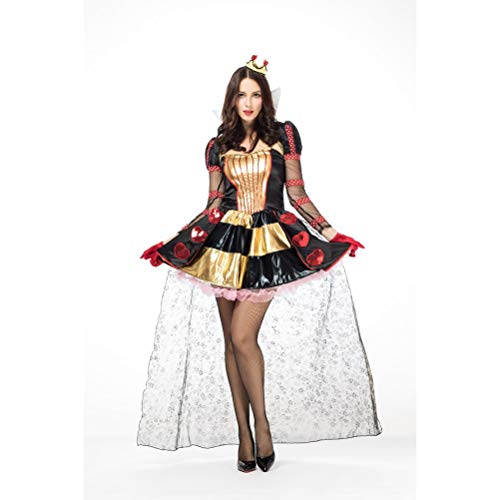 Maskerade Ball Kostüm Kleider - YRE Alice im Wunderland Pokemon Pokemon Prinzessin Kleid, Cosplay Königin Kleid Halloween-Karneval Party-Anzug, Maskerade Ball Ostern Kostüm