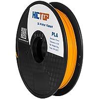 HICTOP 1.75mm Universal 3D Printing PLA 3D-Drucker Glühfaden - 0,5kg Spool (1,1 lbs) - Dimensional Genauigkeit +/- 0,05 mm (orange)