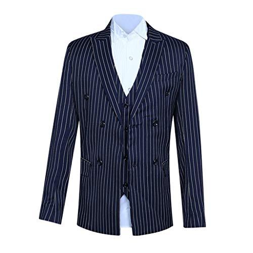 Schurwolle 2-knopf-anzug (2 Teilig Herren Anzug Smoking mit Weste Jacke und Hose für Business Hochzeit und Party EIN oder Zwei Knopf Business Casual Hochzeit Sakko)