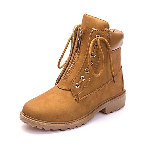 Botas de Mujer Cuero Impermeables Botines Invierno Moda Zapatos...