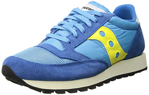 buy popular ef869 9eb24 Saucony Men s Jazz Original Vintage Trainers, (Blue Yellow 46), 8 (