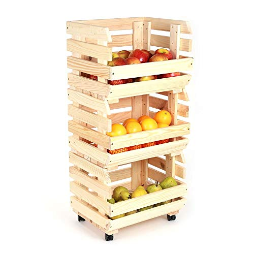 Obsthorde Kartoffelhorde Obststiege Obstregal Kartoffelkiste Apfelstiege Stapelhorde auf Rollen