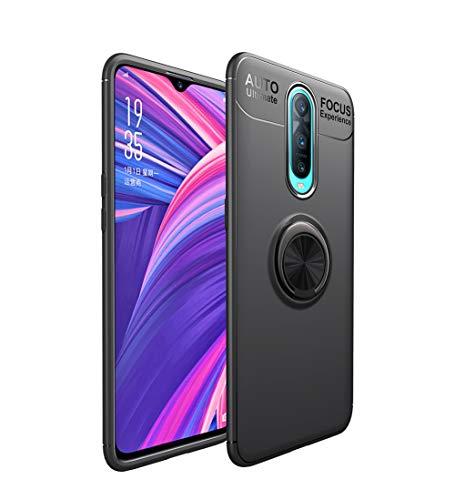 """HERCN Oppo RX17 PRO 6.4"""" Custodia,Ultra Sottile Silicone TPU Custodia con Anello in Metallo Protettiva Case con Supporto Auto Magnetico per Oppo RX17 PRO Smartphone (Nero)"""