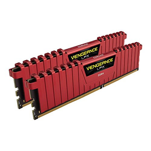 Corsair Vengeance LPX 16Go (2x8Go) DDR4 2666MHz C16 XMP 2.0 Kit de Mémoire Haute Performance - Rouge