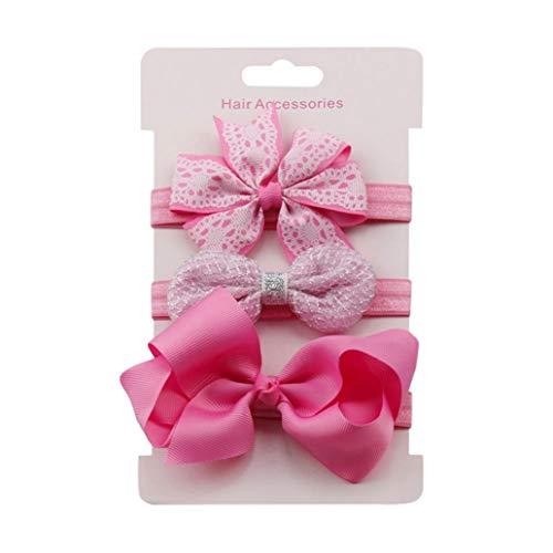 KISSFRIDAY Rosa Baby Stirnbänder Haarband Stirnband Kopfband Baby Schmuck Babygeschenke Taufe