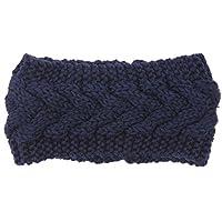 hugestore Donna Inverno a maglia uncinetto con Headwear Fascia da