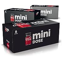 Coca-Cola Zero Sugar / Koffeinhaltiges Erfrischungsgetränk in stylischen Mini Dosen mit originalem Geschmack (3 x 8 x 150ml)