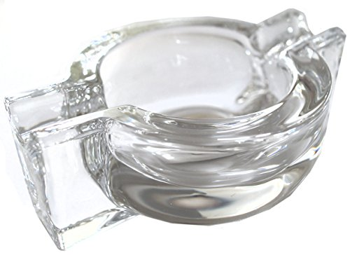 GERMANUS Aschenbecher aus Glas für Zigaretten oder Zigarren, O
