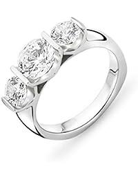 Miore Damen 925 Sterling Silber Verlobungsring mit Zirkonia