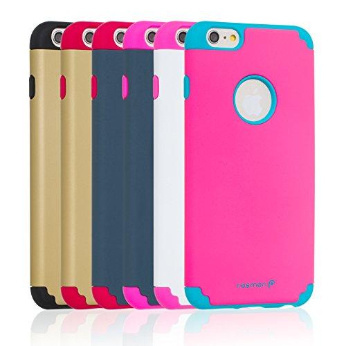 "Fosmon HYBO-DUOC Abnehmbar Hybride Silicone + PC Case Cover hülle für Apple iPhone 6 Plus (5.5"") - Lila / Teal Rot/Marineblau"