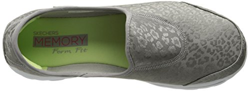 Skechers Performance Go Marche Tabby Slip-on Walking Shoe silver