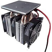 12V 240W Peltier chip semiconductor refrigeración Placa Frigorífico grande Power Plate refrigeración asistida por ordenador (Color: Negro)