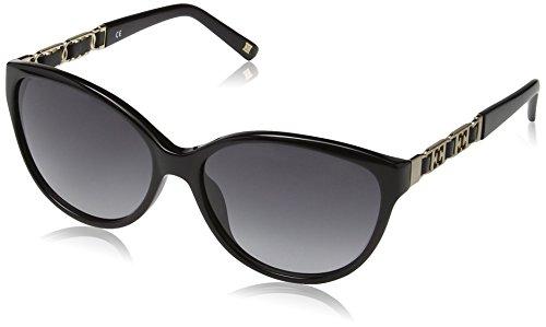 Escada Damen Cateye Sonnenbrille, Gr. One Size, Shiny Black Frame / Smoke Gradient Lens