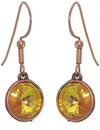 RIVOLI Antik Kupfer Ultra Orange Swarovski Crystal Haken Ohrringe