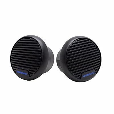 Herdio Marine Boat Speakers Water Dust-proof IP66 Level for Boat Motorcycle Bathroom Swimming Pool ATV UTV 3 inch 140 Watts