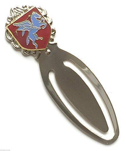 Airborne Pegasus Military Streitkräfte Lesezeichen & Organza Geschenkbeutel (MO13) + 59mm Button Airborne Emblem